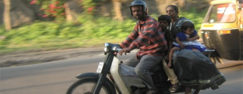 Indian family on motorbike