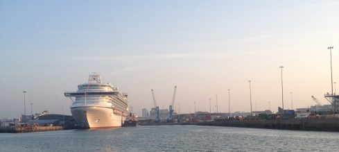 cruise ship in Southampton docks