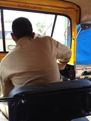 In an auto-rickshaw